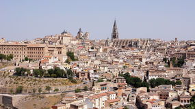 The panoramic view of Toledo in Spain Royalty Free Stock Images