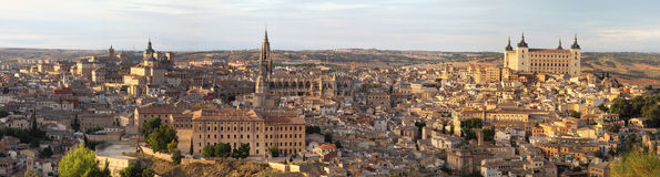 Panoramic view of Toledo,Spain Stock Image