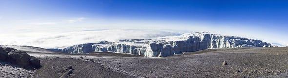 Panoramic view from top  of Kilimanjaro Stock Photos