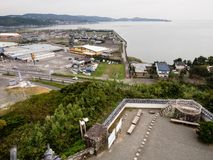 Panoramic view from the top of Kitsuki castle - Oita prefecture, Japan stock photo