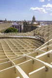 Panoramic view in the top of Metropol Parasol in Plaza de la Enc Royalty Free Stock Images