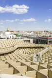 Panoramic view in the top of Metropol Parasol in Plaza de la Enc Stock Images