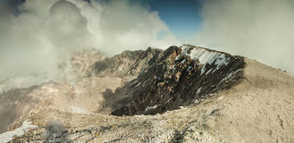 Panoramic view of top of the Mount Saint Helens volcano Royalty Free Stock Photos