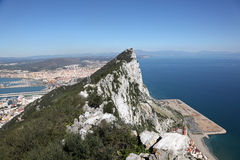 View from the top of Gibraltar Stock Photos