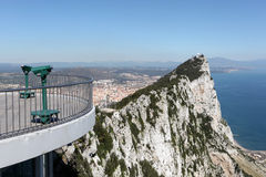 View from the top of Gibraltar Royalty Free Stock Image