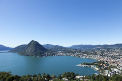 Panoramic view from the top, switzerland Royalty Free Stock Images