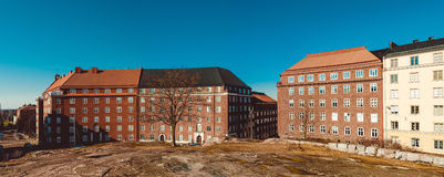 Panoramic view from the top of Temppeliaukio Church in Helsinki, Finland. Royalty Free Stock Photography