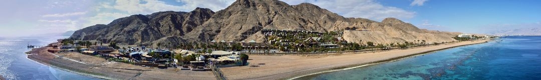 Panoramic view from top of underwater observatory. Eilat. Stock Photos