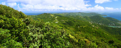 Panoramic View of Tortola. From Sage Mountain National Park - British Virgin Islands stock photography