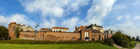 Panoramic view of Torun old town, Poland. Royalty Free Stock Images