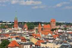 Panoramic view of Torun, Poland Royalty Free Stock Image