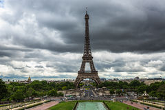 Panoramic view toward The Eiffel Tower in Paris, France Stock Image