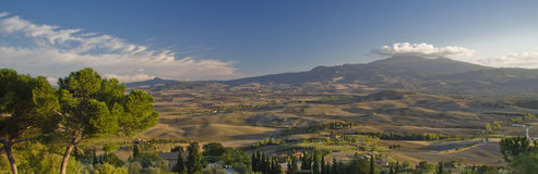 Panoramic view toward Monte Amiata, Tuscany Stock Photos