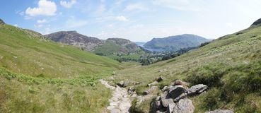 Panoramic view towards Sheffield Pike Royalty Free Stock Images