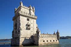 Panoramic view Tower of Belem Stock Image