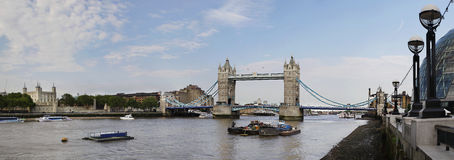 Panoramic view of Tower Bridge Royalty Free Stock Photos