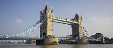 Panoramic view of Tower Bridge Stock Photos