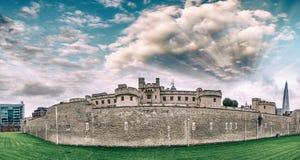 Panoramic view of Tower of London ancient landmark - UK Stock Photography