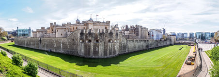 Panoramic view of The Tower of London Stock Photos