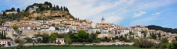Panoramic view of the town of Cadenet - Luberon - France Stock Photos