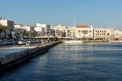 Panoramic view of town of Ermopoli, Syros, Greece Royalty Free Stock Photo