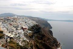 Panoramic view of the town of Fira, Santorini, Greece Royalty Free Stock Photos