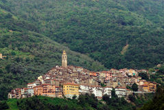Panoramic view of town in Italy Royalty Free Stock Photography