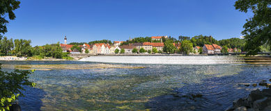 Panoramic view town Landsberg am Lech Stock Images