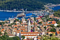 Panoramic view - Town of Mali Losinj. Island of Losinj, Croatia Stock Photography