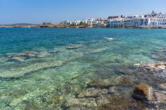 Panoramic view of town of Naoussa, Paros island, Greece Stock Photography