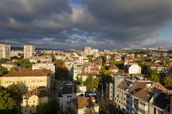 Panoramic view of the town Pleven Stock Images