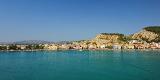 Panoramic view of the town and port of Zakynthos Stock Photography