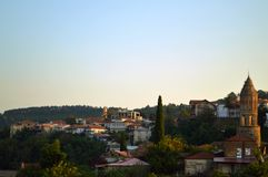 Panoramic view of the town Sighnaghi royalty free stock images