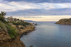 Panoramic view of traditional fishing village of Mochlos, Crete, Greece. Panoramic view of small traditional fishing village of Mochlos, Crete, Greece Stock Photography