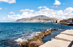Panoramic view of Trapani on the west coast of Sicily Royalty Free Stock Images