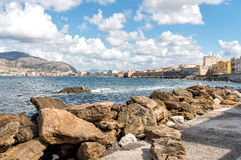 Panoramic view of Trapani on the west coast of Sicily Royalty Free Stock Image