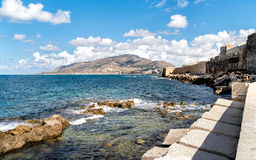 Panoramic view of Trapani on the west coast of Sicily Stock Photo