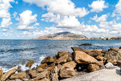 Panoramic view of Trapani on the west coast of Sicily Royalty Free Stock Photos