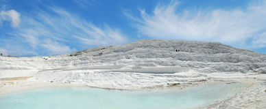 Panoramic view of an travertine Royalty Free Stock Photos