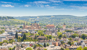 Panoramic view Trier Rhineland Palatinate Germany.  stock photo