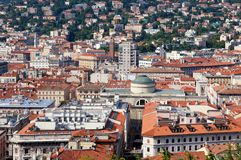 Panoramic view of Triest city, Italy Royalty Free Stock Photo