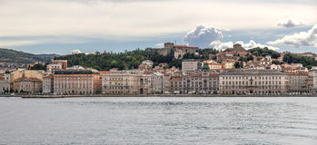 Panoramic view of Trieste Stock Photography