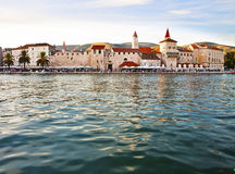 Panoramic view of Trogir, Croatia Stock Photo