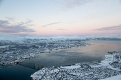 Panoramic view of Tromso Royalty Free Stock Photo