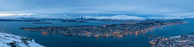 Panoramic view of Tromso in Norway Royalty Free Stock Photography