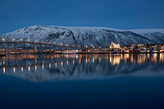 Panoramic view on Tromso in Norway Royalty Free Stock Photography
