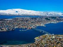 Panoramic view of Tromso, Norway Stock Photos