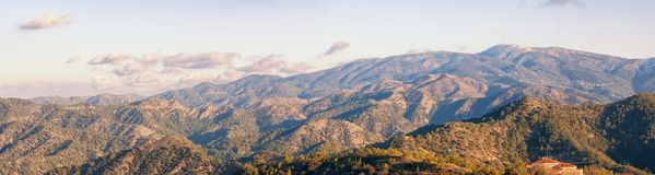Panoramic view from Troodos mountains Stock Photography