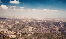 Panoramic view from Troodos mountains. Cyprus Stock Photo