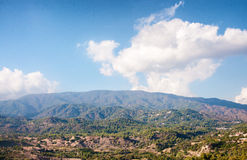 Panoramic view from Troodos mountains. Cyprus Stock Photos